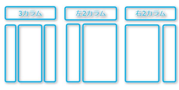 3種類のカラムパターン
