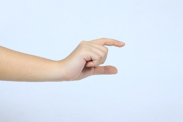 大きさを計る指