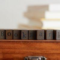 ブックマークと書かれた積み木